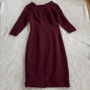 Boden Burgundy Dress